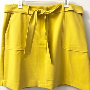 Yellow skirt | short | size 14 | LOFT